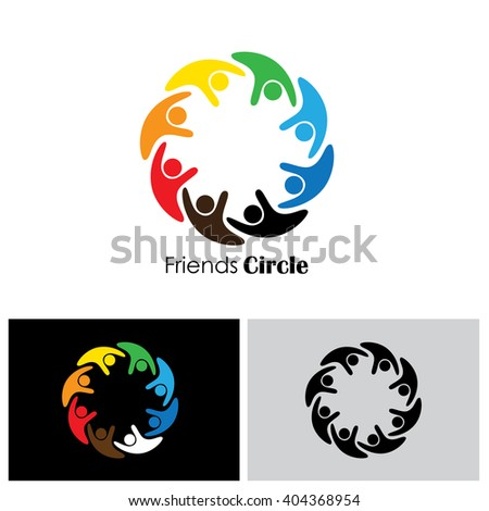 people community vector logo icon in eps 10 format - stock vector