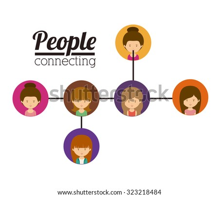 People concept about woman cartoon design, vector illustration eps 10 - stock vector