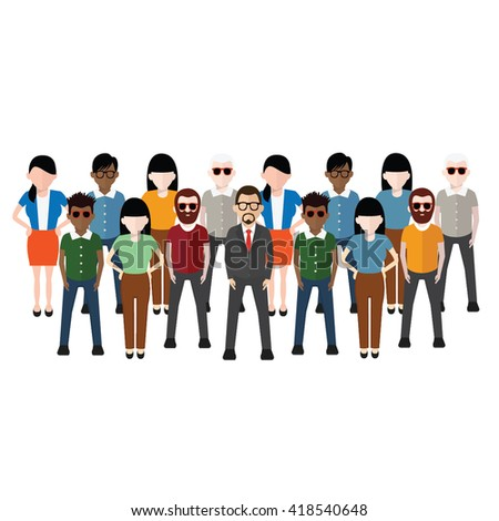 People concept design on white background,vector - stock vector