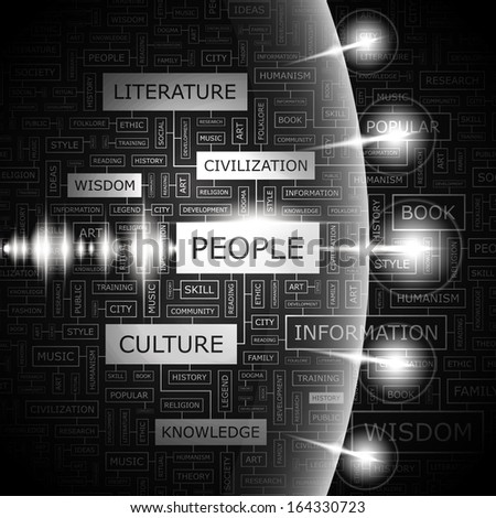 PEOPLE. Concept illustration. Graphic tag collection. Word cloud collage. Vector illustration.