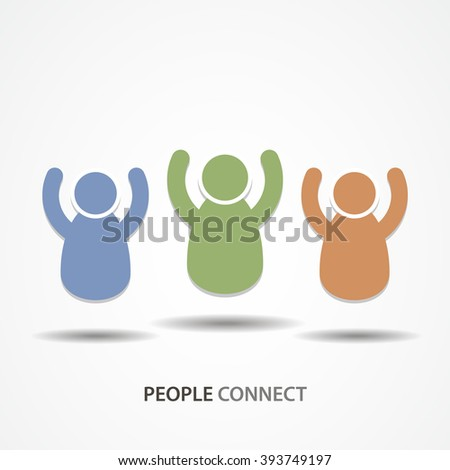 People connect icon or sign