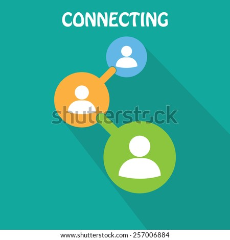 People connecting icon - stock vector