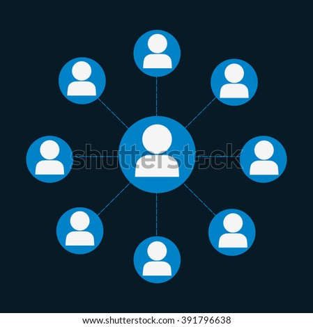 People connections design  - stock vector