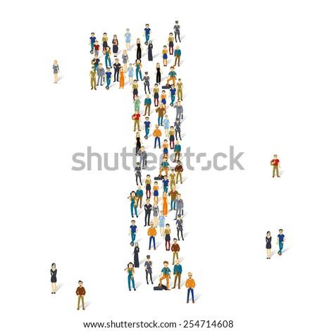 People crowd. Vector figures, 1 - stock vector