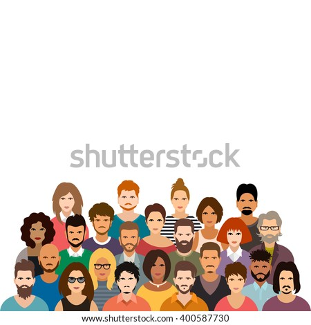 People crowd vector illustration - stock vector