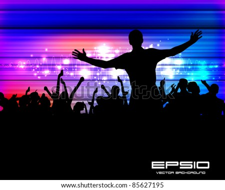 People dancing background party - stock vector