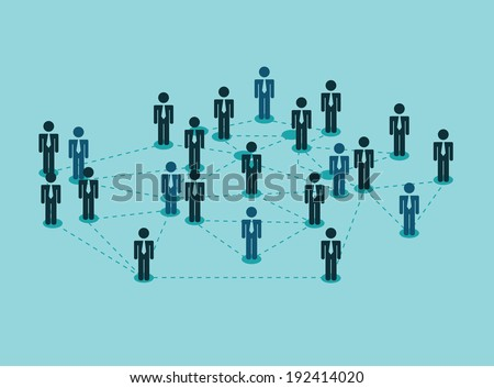 People design over blue background, vector illustration,