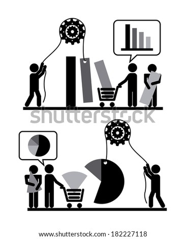 People design over white background, vector illustration - stock vector