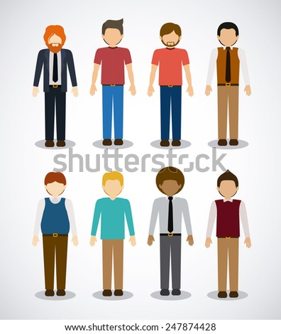 People design over white background, vector illustration. - stock vector