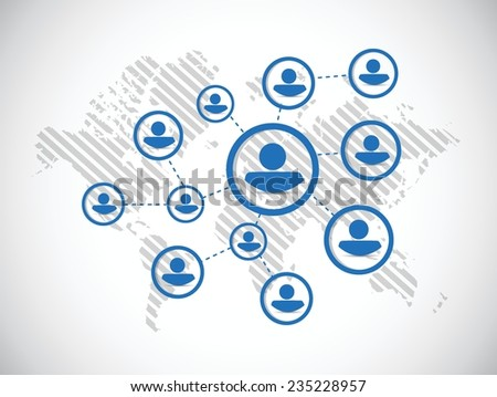 people diagram network illustration design over a white background