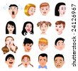 people expressions - stock vector