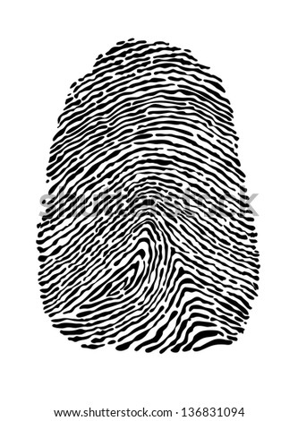 People fingerprint isolated on white background for security concept design. Jpeg (bitmap) version also available in gallery - stock vector