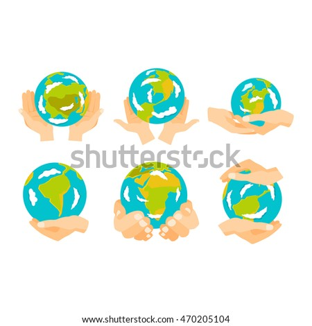 People holding earth