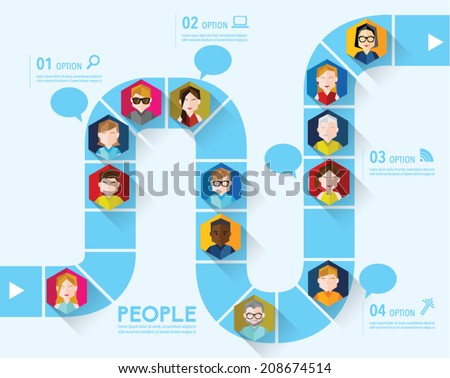 People Icon Conceptual Vector Design - stock vector