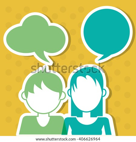 People icon design , vector illustration