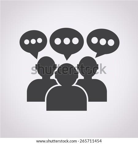 people icon dialog speech bubble - stock vector