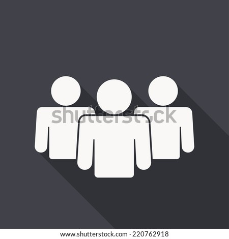 people icon , flat design - stock vector