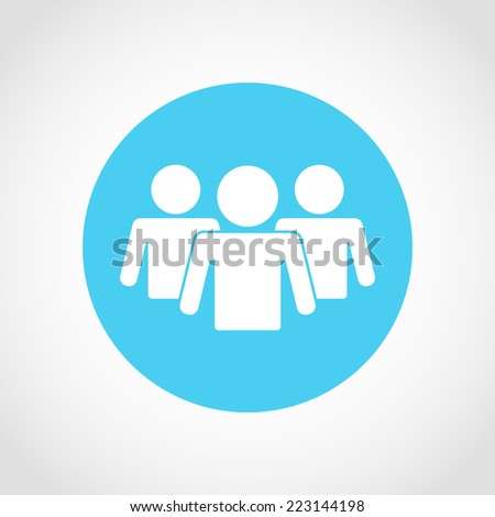 People Icon Isolated on White Background - stock vector