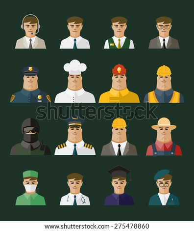 People icon ,professions icons, Occupation set - stock vector