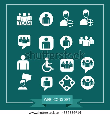 people icon set Illustration - stock vector