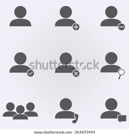 People icon set . Vector illustration - stock vector