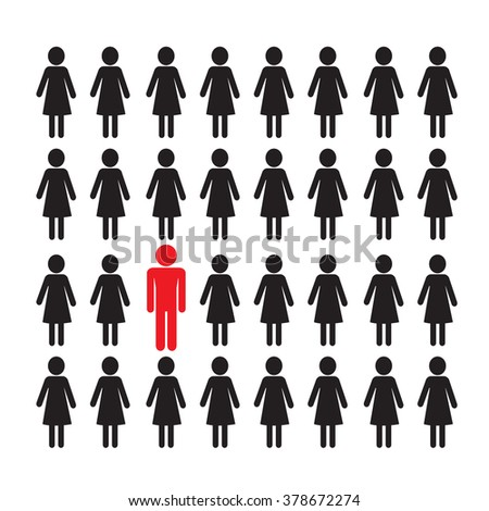 people icon think different Illustration design - stock vector