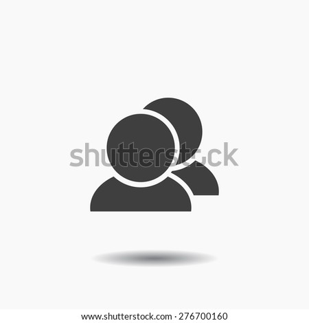people icon. Vector Eps 10 - stock vector