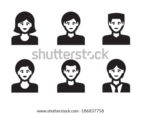 People icon. Vector format - stock vector
