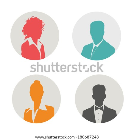 People icon. Vector illustration. - stock vector