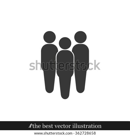 People icon vector illustration eps10.
