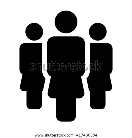 People Icon - Women, Population, Team, Group, Crowd, Society, Community etc. - stock vector