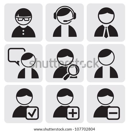 people icons - stock vector