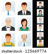 People Icons. Avatars of Various Business Peoples. Vector Clip Art - stock vector