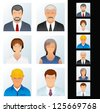 People Icons. Avatars of Various People Occupations. Vector Clip Art - stock vector