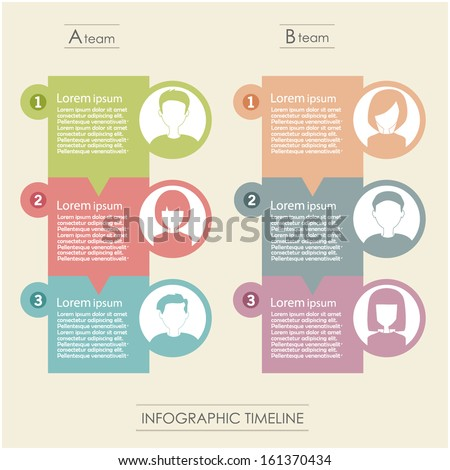 people icons infographic concept - stock vector