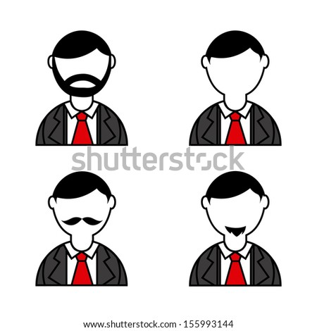 people icons over white background vector illustration - stock vector
