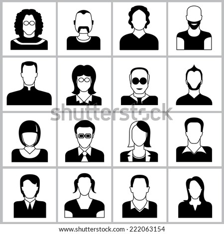 people icons set, office people icons, user icons