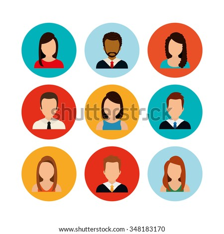 People icons, vector illustration eps10