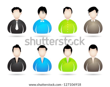 people icons with special design for your business website - stock vector