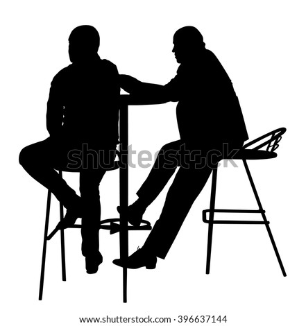 People in cafes. Silhouettes of people in urban life vector illustration isolated on white background. Night club guests. Snack bar on the street.