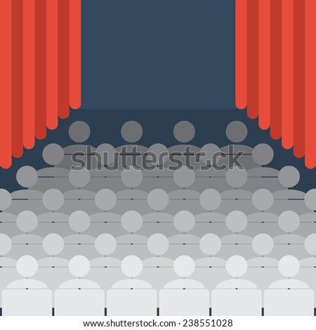 people in the opera theatre on premiere - stock vector