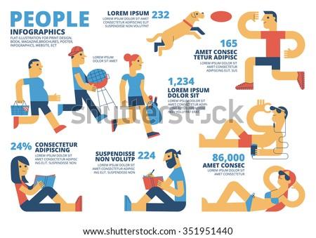People Infographics - stock vector
