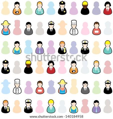 People jobs set 01 - stock vector