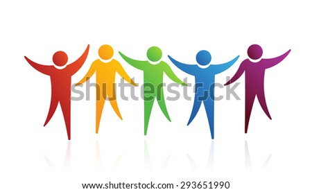 People logo friends - stock vector