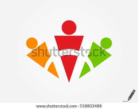 people, logo, icon, vector illustration eps10