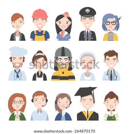 People of different professions. Vector. - stock vector