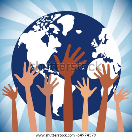 People of the world design. - stock vector