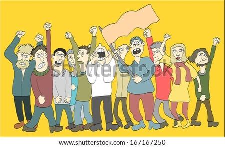 People on strike - stock vector
