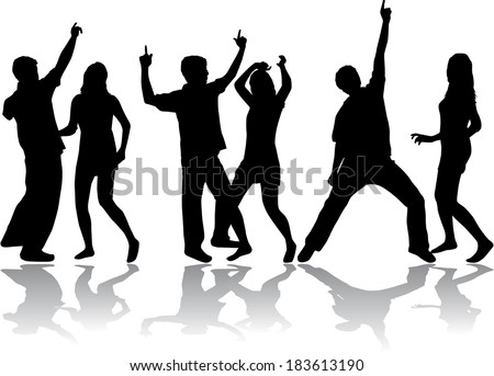people on the party  - stock vector