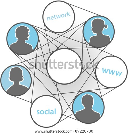 People people join in www connections social media network - stock vector